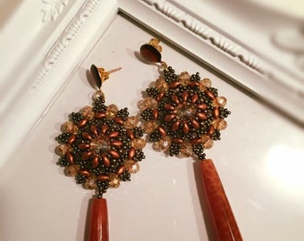 Pious Copper Earrings