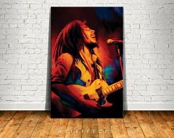 Bob Marley Canvas High Quality Giclee Print Wall Decor Art Poster Artwork