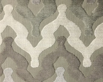 Upholstery Fabric - Leicester - Beach - Cut Velvet Home Decor Upholstery, Drapery, & Pillow Fabric by the Yard - Available in 13 Colors