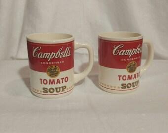 Pair of Campbells Soup Mugs