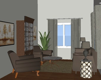 Living Room E-design
