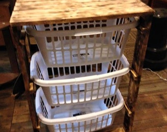 3 Basket Laundry Stand