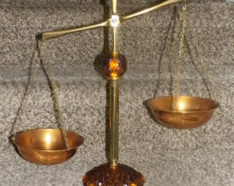 Vintage Princess House Scales of Justice