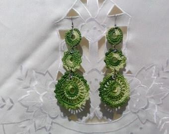 Crochet earrings, handmade