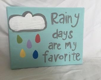 Rainy days canvas