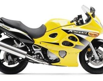 Yellow Mototrbike Cross Stitch Kit