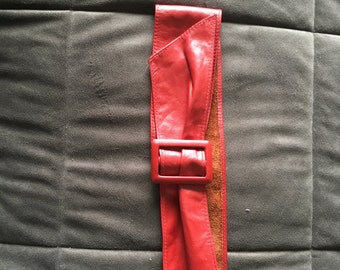 Leather cinch 80s belt