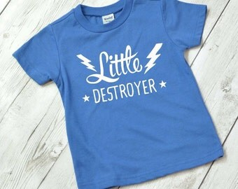 Toddler boy shirt, boy toddler shirt, Little Destroyer Shirt, Toddler shirt, funny toddler shirt, cool toddler shirt, boy shirt, hipster boy