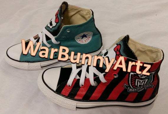 c9bd881e0c9d Monster High Shoes Hand Painted Custom Converse Sneakers best ...