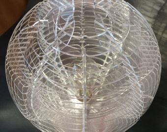Lamp #5 in transparent Plexiglass