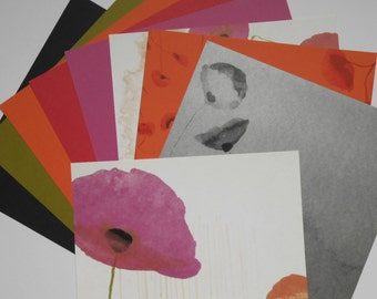 Poppy 12x12 Scrapbook Paper 9 Page Set