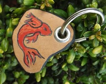 Circling Koi Keychain
