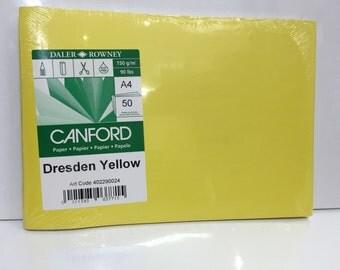 Paper - 50 sheets Dresden Yellow