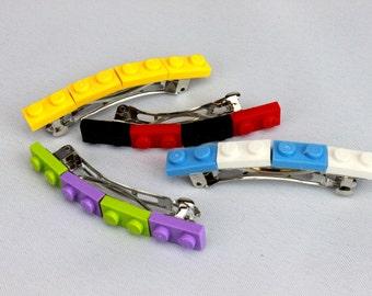 LEGO Barrettes, Hair Clips (one pair per order)