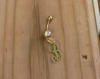 Monogrammed Belly Ring