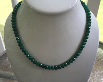 Natural Emerald Necklace May Birthstone