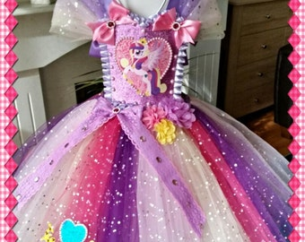 Handmade Girls Princess Cadence My Little Pony Tutu Dress