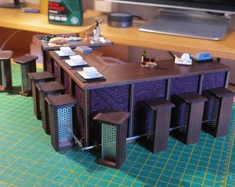 1/12th Scale Restaurant Bar Set