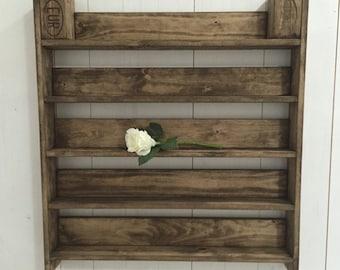 Spice rack wall shelf