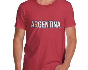Men's Argentina Flag Football T-Shirt