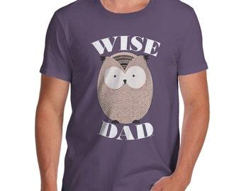 Men's Wise Dad Owl T-Shirt