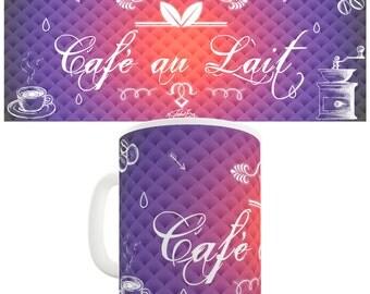 Decorative Cafe Au Lait Ceramic Funny Mug