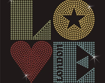 Love London Rhinestone Applique