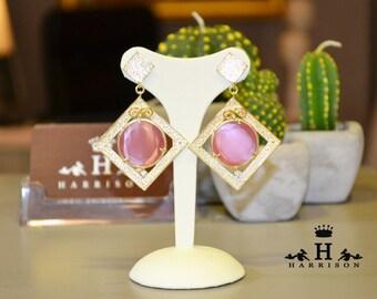 Handmade earrings with stones