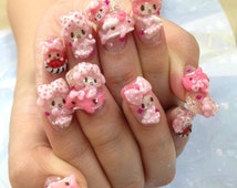 "3D nail art parts ""summer My melody design"""