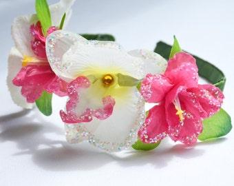 Flower crown / Hawaiian, polynesian headband
