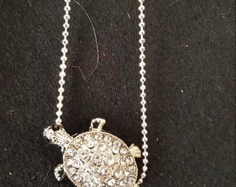 Rhinestone turtle bracelet