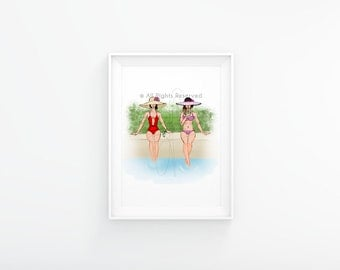 Swimming Pool Illustration [Instant Download]