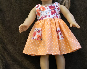 American Girl Doll Sleeveless Dress with Pockets