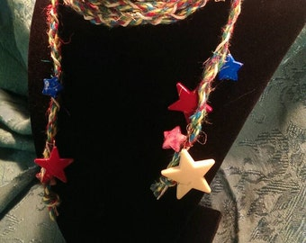Hemp headband (stars)
