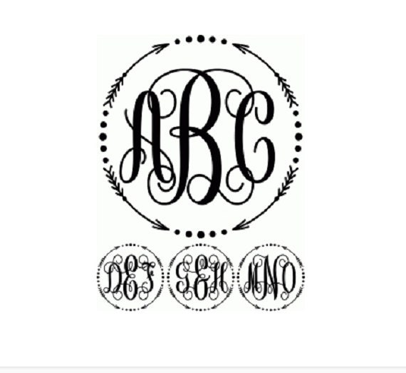 This Would Be Cute To Change Into The Welcome Letter To: Items Similar To Arrow Cursive Circle Monogram Custom