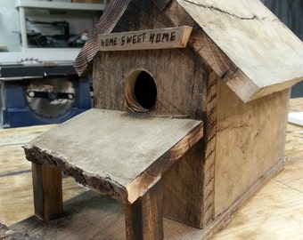 Bird House Rustic, Reclaimed wood, Bird House