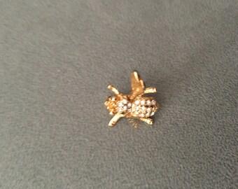 Gold Fly Brooch