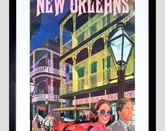 Travel New Orleans America Usa City Fine Art Print Poster FECC1982