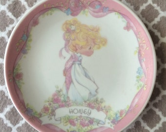 Vintage precious moments plate - 1991 enesco corp - honey