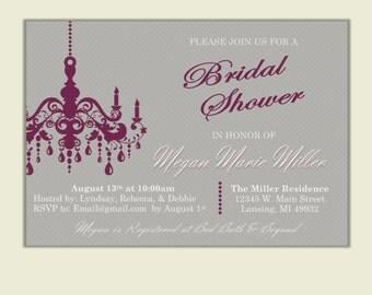 Chandelier Shower Invite
