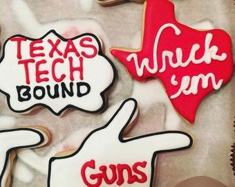 Texas Tech Sugar Cookies