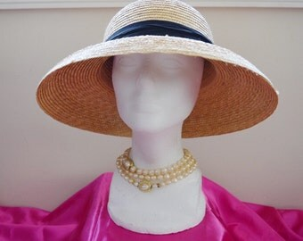 Sunflower Straw Hat -- Kentucky Derby, Wedding, Garden Party, Tea Party, Formal, Church, Beach, Summer, Sun Hat
