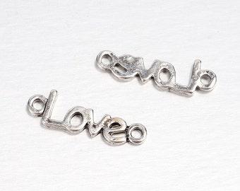 "24mm Charm Link ""Love"" X10"