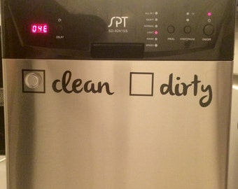 Clean / Dirty Dishwasher Sticker