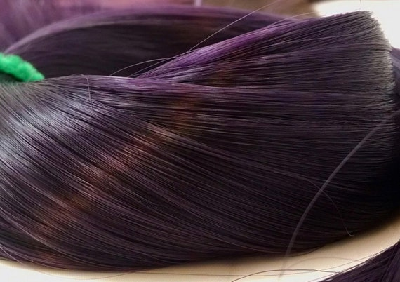 Grapes of Wrath Dark Purple Nylon Doll Hair Rerooting Hank for My Little Pony, Barbie, Monster High, Ever After, Crissy, Blythe, Dawn, Sindy