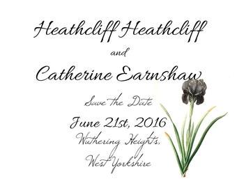 The Heathcliff: Customizable Save the Date & Wedding Invitation (Digital Download)