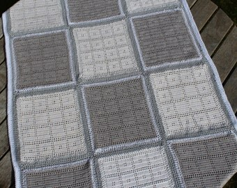 Handmade Crochet Child's Blanket, 100% cotton – Charity Item