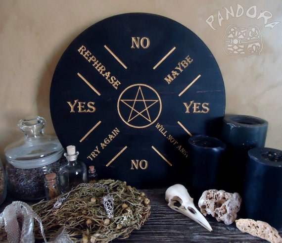 Spirit Guide Pendulum Dowsing Board Print on 24lb Parchment