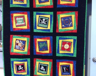Pirate Quilt single bed