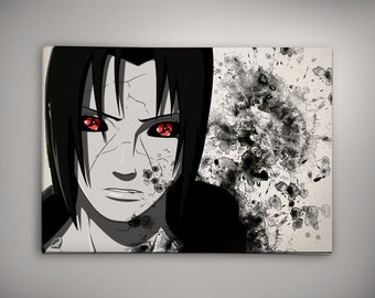 Uchiha itachi etsy for Decoration murale naruto